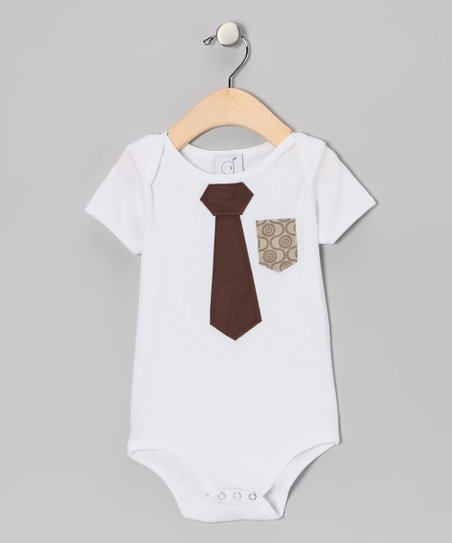 Ana Apple White Business Time Bodysuit - Infant