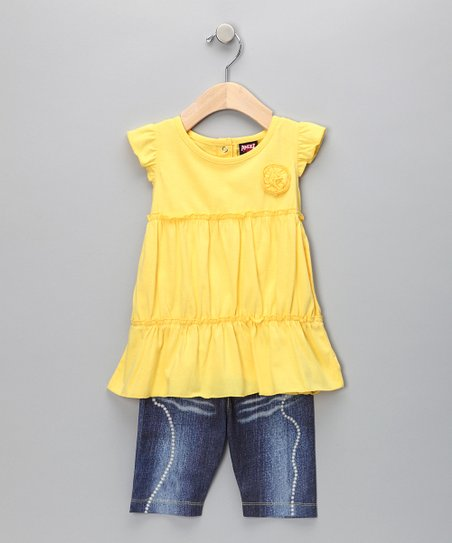 Yellow Ruffle Top & Shorts - Infant