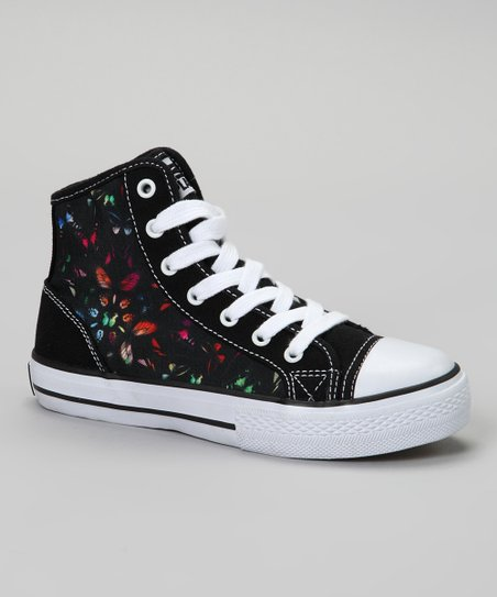 Black Super Butterfly Hi-Top Sneaker