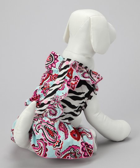 Black Zebra & Paisley Dog Dress