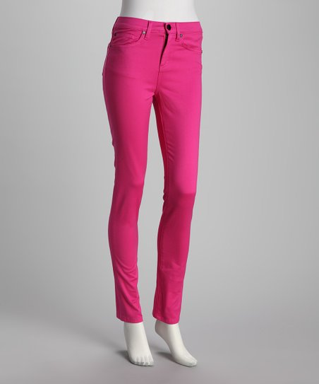 Anna Catherine Shocking Pink Skinny Jeans