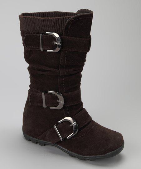 Brown Triple-Buckle Boot