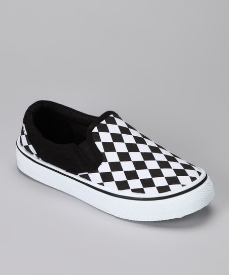 Black & White Slip-On Shoe
