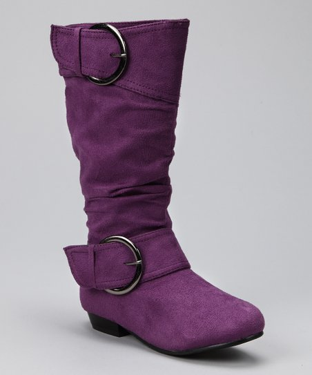 Purple Suede Tiffany Boot