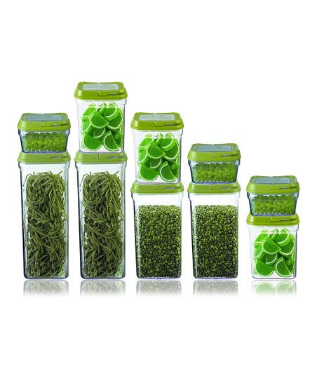 Green 10-Piece Large Food Storage Container Set