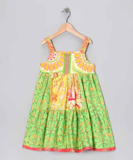 Sweet Kiwi Mixed Dress - Toddler &amp; Girls