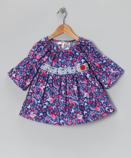 Royal Blue Teachers Pet Peasant Top - Toddler &amp; Girls