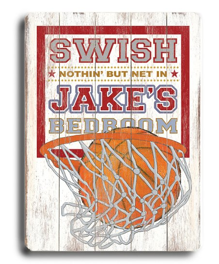 'Swish' Basketball Personalized Wall Art
