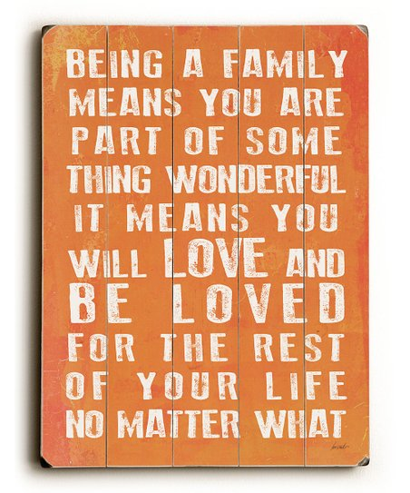 &#039;Being a Family&#039; Wall Art