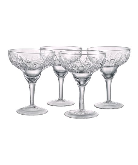 Shell Margarita Glass - Set of Four