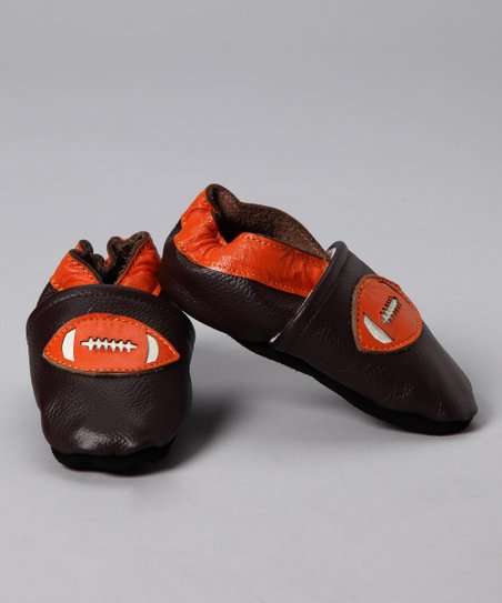 Brown Football Booties