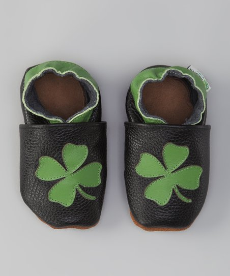 Black & Green Shamrock Booties