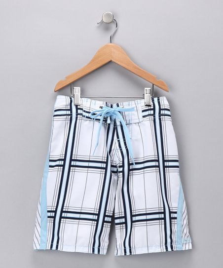 Blue Square One Swim Trunks - Boys
