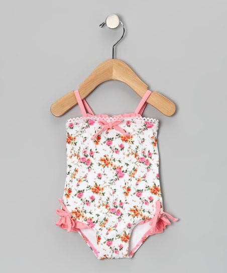 Pink La Vie en Rose Cropped One-Piece - Infant, Toddler & Girls