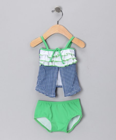 Blue Navy Reserve Open Tankini - Infant, Toddler & Girls
