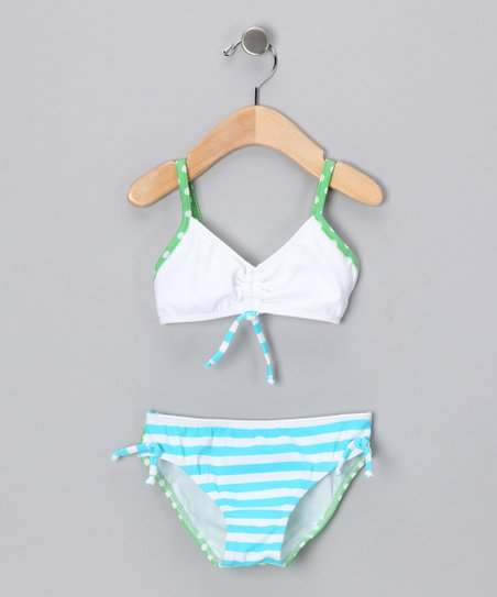 Turquoise Martha's Vineyard Bikini - Girls