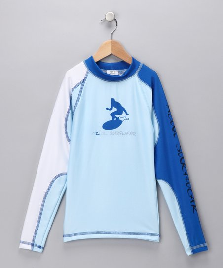 Light Blue Long-Sleeve Rashguard - Boys