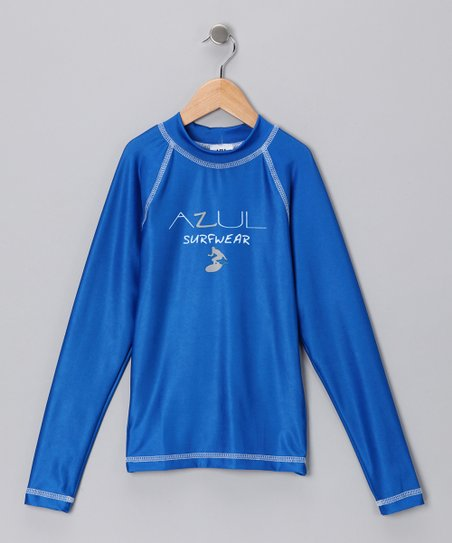 Royal Blue Long-Sleeve Rashguard - Infant, Toddler & Kids