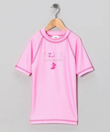 Pink Short-Sleeve Rashguard - Infant & Girls