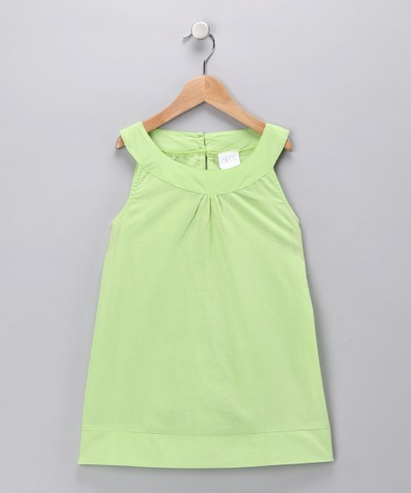 Green Yoke Dress - Toddler & Girls
