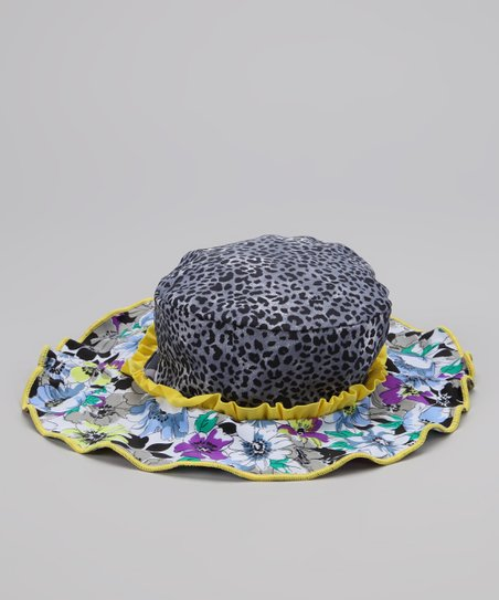 Yellow Fierce & Floral Sunhat