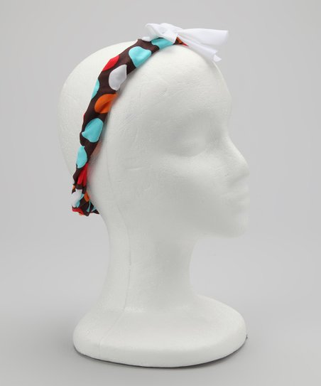 Brown & Blue Spot-On Headband