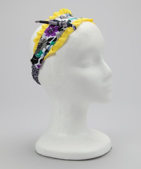 Yellow Fierce & Floral Headband