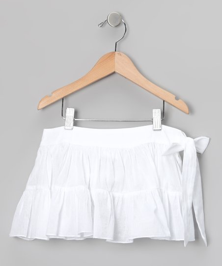 White Sash Skirt - Toddler & Girls