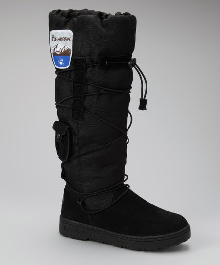 Black Suede Boreal Boot - Women