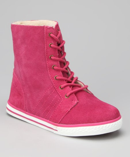 Hot Pink Newport Hi-Top Sneaker - Kids