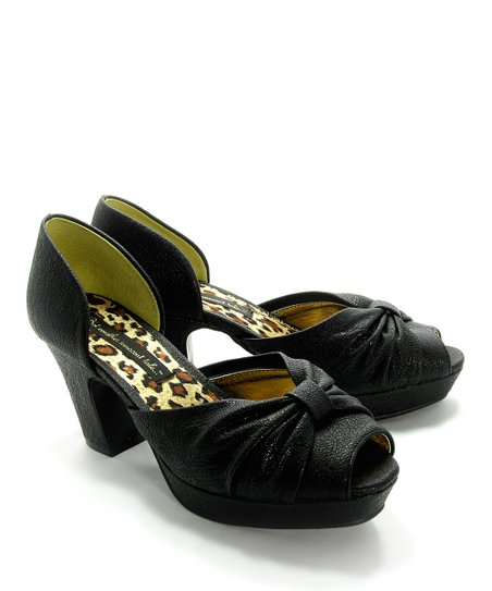 Black Bernice Peep-Toe Pump