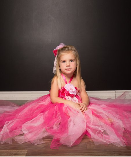 Pink Luxury Rose Tulle Dress - Infant