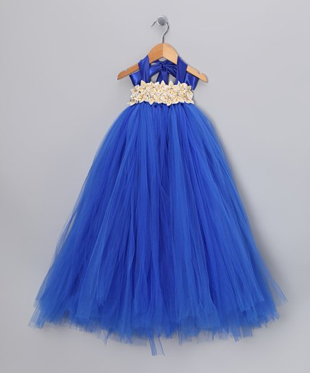 Royal Blue Garden Tulle Dress - Infant, Toddler & Girls