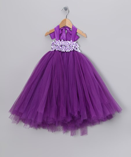 Purple Garden Tulle Dress - Infant, Toddler & Girls