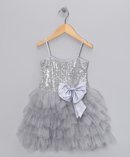 Silver Sequin Princess Dress - Toddler & Girls