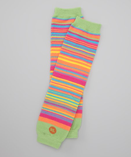 Baby Legs Green Stripe Bewitched Leg Warmers