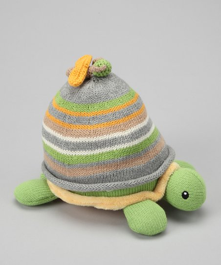 Yellow Plush Turtle & Beanie Set