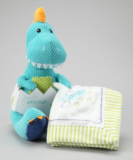 Blue Just Hatched Dinosaur Plush & Lovey Set