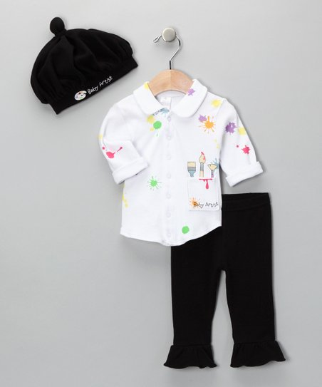 Black &amp; White Big Dreamzzz Artist Layette Set
