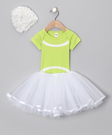 Lime Tennis Tutu Set - Infant
