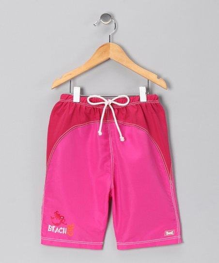 Pink Mermaid 'Beach Girl' Swim Trunks - Infant