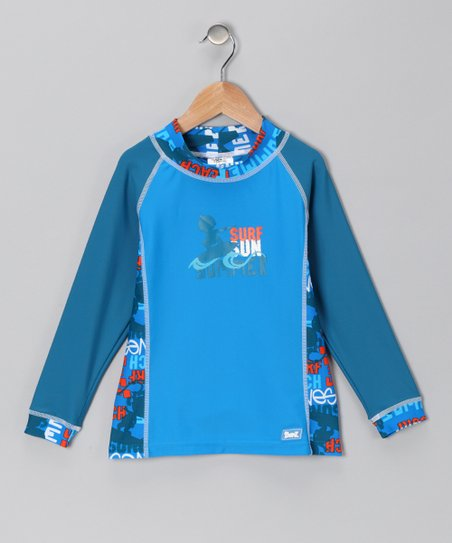 Blue Sun Surf Long-Sleeve Rashguard - Infant & Toddler