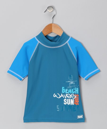 Blue Beach Waves Rashguard - Infant & Boys