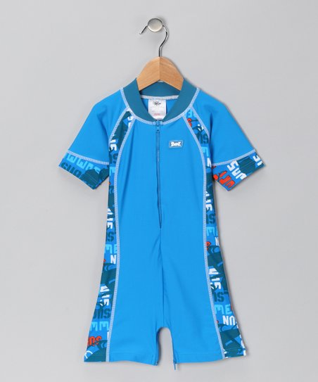 Blue Sun Surf One-Piece Rashguard - Infant