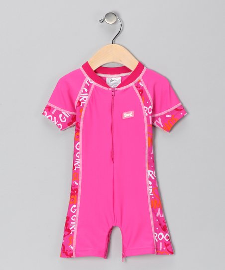 Pink One-Piece Rashguard - Infant & Toddler