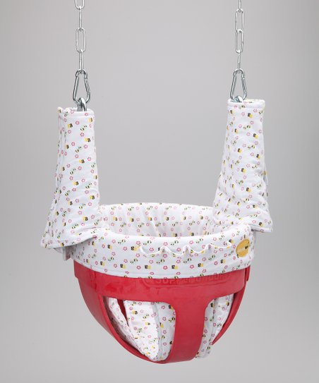 White Bee Swingin' Smart Bucket Swing Seat Cover