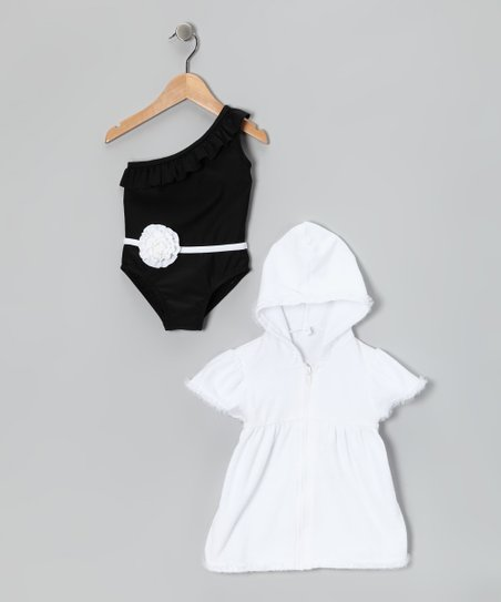 Black Flapper Girl One-Piece & Cover Up - Infant