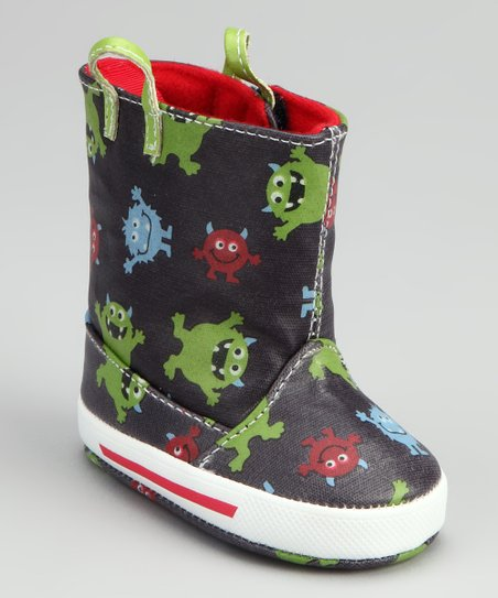 Blue Monster Rain Boot