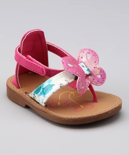 Fuchsia Butterfly Sandal