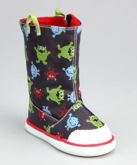 Blue Monster Tall Rain Boot